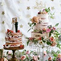 トレンドのかわいいケーキトッパーをのせてオリジナルCakeに☆☆当日召し上がる生ケーキ、新居で飾ることができるセレモニーケーキもオーダー可能。