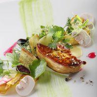 フォアグラカナールと野菜のクロカン ソースエーグルドゥース