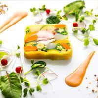 彩り野菜とオマール海老