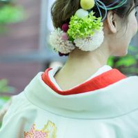 和装にぴったりの花飾り