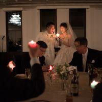 姫路城の見える披露宴会場「安寧の間」 ライトアップされたお城の前で、幻想的なキャンドルリレー☆