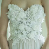 ドレス胸元デザイン
