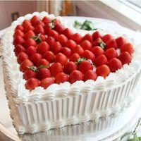 ハートのケーキはいつでも大人気