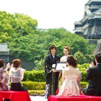 熊本城に永遠の愛を誓うオリジナル人前式「久遠~KUON~」。