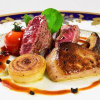 国産牛フィレ肉とフォアグラのポワレ