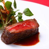 The BlueMoon Cuisine お肉は県内産ブランド牛を使用