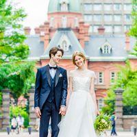北海道庁の前で、おふたりの記念写真を撮影しよう