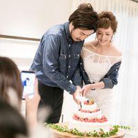 お二人のケーキ入刀は、ゲストにとってはシャッターチャンス☆