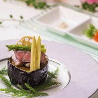 牛サーロイン網焼き季節の野菜を添えて