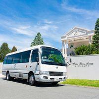 ご家族やご友人・職場の方にご利用いただける送迎バスをご用意しています 特別な日を迎える特別な場所へゲストが一緒に来られるのもパーティへの期待感UPになるためオススメです