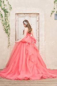 【Cinderella & Co.】キャンディーピンクのカラードレスSS4592CP