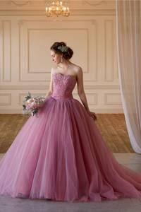 【Cinderella & Co.】グレイッシュピンクのカラードレスSS5982PGR