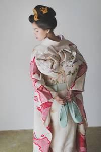 白地疋田古典鶴