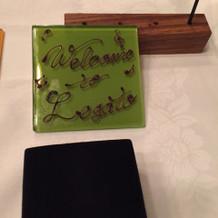 チョコで描いたウェルカムメッセージ