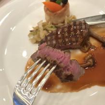 メイン料理!お肉美味しかった!