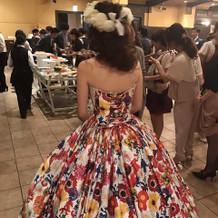 お気に入りのカラードレス