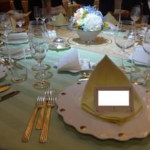 披露宴テーブル