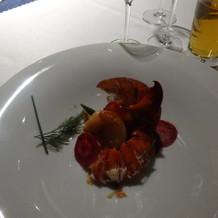 オマール海老と帆立貝のロースト