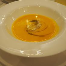 季節のスープはかぼちゃスープでした。