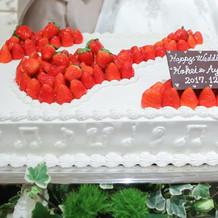 ケーキのデザインも味も大満足