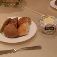 パンも美味しく バターも美味しかった