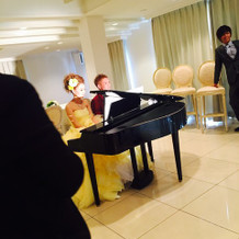 ピアノを2人でひきました