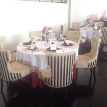 6階の会場ののテーブル