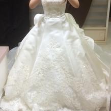 本番のドレス!