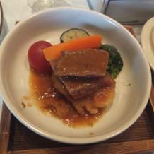 国産牛ステーキ。とてもおいしかったです。