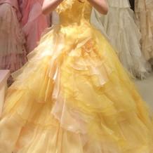 このドレスは殆ど一目惚れで決定!