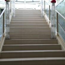 バージンロードの階段