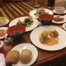 式の後で食べた食事