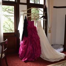 素敵なドレスと褒められました
