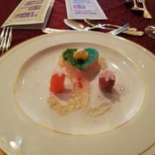 アナ雪コースの前菜
