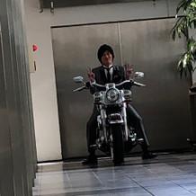 バイク入場前