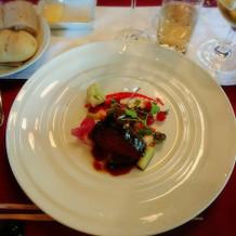 お肉料理。とても美味しかったです