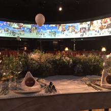 メインテーブルからの景色