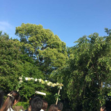 式場が催したプレ結婚式にて