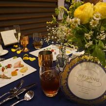 イメージ通りのお花とテーブルクロス