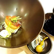 フォアグラご飯、コンソメ留椀