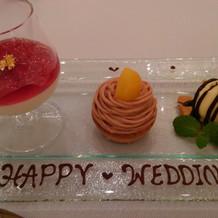 デザートも3種類、とにかく美味しかった。