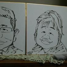 両親の似顔絵