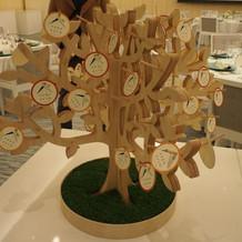 エタニティの会場に寄せ書きの木?