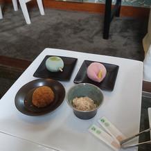 デザートビュッフェの和菓子の写真