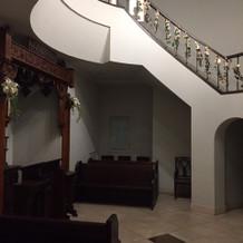 螺旋階段があるチャペルです。