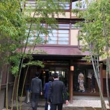 入り口には竹が植わってます。