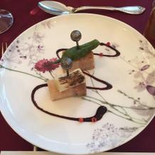 和洋折衷コース、前菜です。