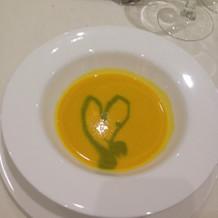 カボチャのスープにはハート