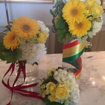 可愛いお花が飾られてました。
