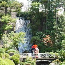 滝があるのがとても素敵です